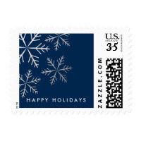 Snowflake faux foil winter holiday postage stamp