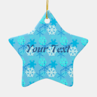 Snowflake Flurry Customizable Christmas Ornaments
