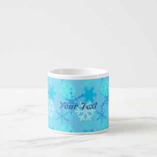Snowflake Flurry Customizable Espresso Cup