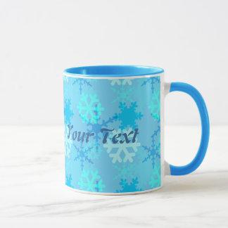 Snowflake Flurry Customizable Mug