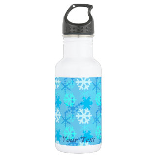 Snowflake Flurry Customizable Stainless Steel Water Bottle