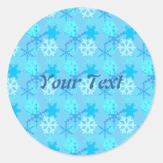 Snowflake Flurry Customizable Classic Round Sticker
