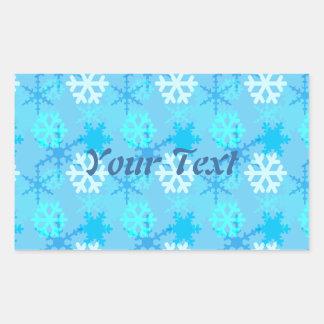 Snowflake Flurry Customizable Rectangular Sticker