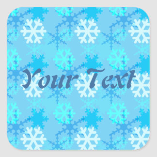 Snowflake Flurry Customizable Square Sticker