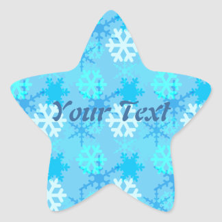 Snowflake Flurry Customizable Star Sticker