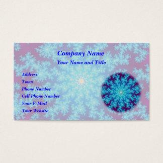 Snowflake Fractal: Aqua Blue Business Card