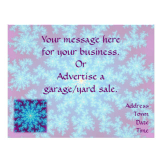 Snowflake Fractal: Aqua Blue Flyer