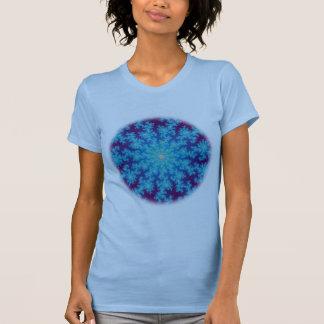 Snowflake Fractal: Aqua Blue T-Shirt