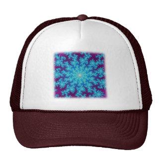 Snowflake Fractal Aqua Blue Trucker Hat