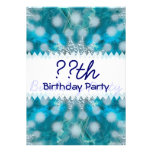 Snowflake Fractal Art Birthday Personalized Invitations