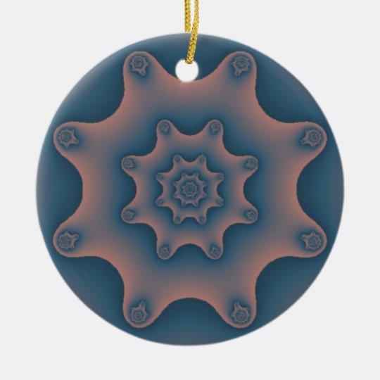 snowflake fractal ceramic ornament