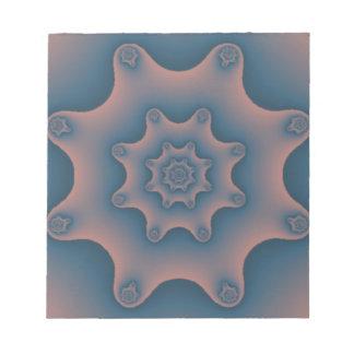 snowflake fractal memo notepad