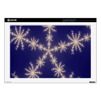 """Snowflake Fractal Night 17"""" Laptop Skin"""