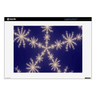 """Snowflake Fractal Night Skin For 15"""" Laptop"""