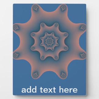 snowflake fractal plaque