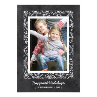 Snowflake Frame | Chalkboard Holiday Photo Card