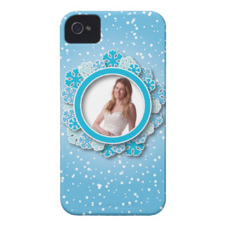 Snowflake frame iPhone 4 Case-Mate case
