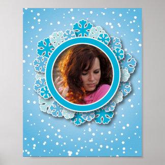 Snowflake frame print