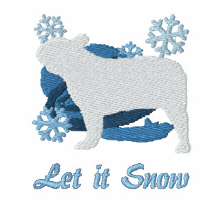 Snowflake French Bulldog Embroidered Hoodie