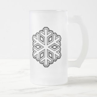 Snowflake Frosted Glass Beer Mug