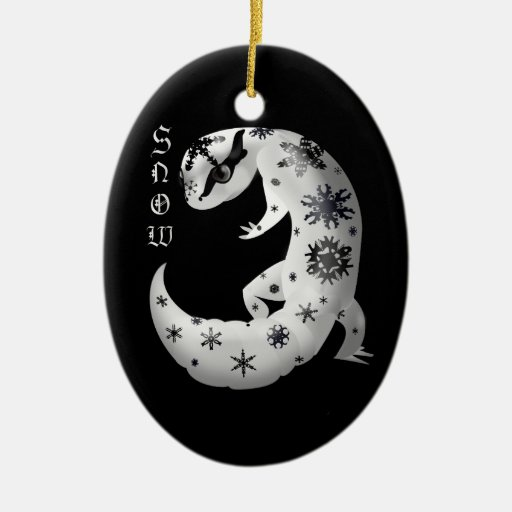 Snowflake Gecko Ornament