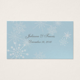 Snowflake Gems/ seating card