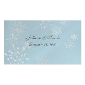Snowflake Gems/ seating card Double-Sided Standard Business Cards (Pack Of 100)