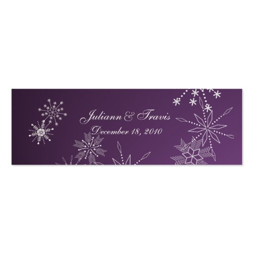Snowflake Gems/ seating card Business Card
