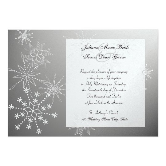 Snowflake Gems/ Wedding Card