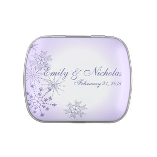 Snowflake Gems Winter Lavender Jelly Belly Candy Tin