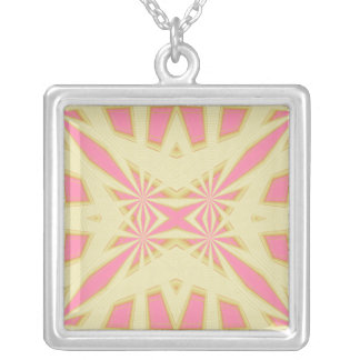 Snowflake - Geometric Abstract Silver Plated Necklace