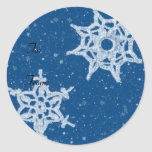 Snowflake Gift Tag Classic Round Sticker