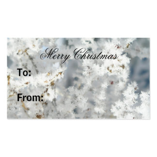 Snowflake Gift Tags Business Card Templates