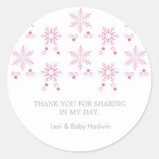 Snowflake | Girl Baby Shower Favor Sticker