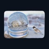 Snowflake Globe Bath Mat