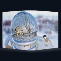 Snowflake Globe Binder