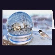 Snowflake Globe Card