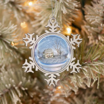 Snowflake Globe Christmas Ornament