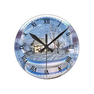 Snowflake Globe Clock