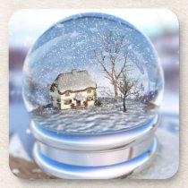 Snowflake Globe Cork Coasters