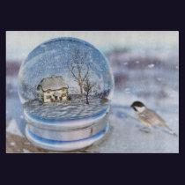Snowflake Globe Cutting Board