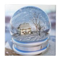 Snowflake Globe Decorative Tile
