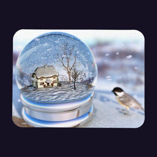 Snowflake Globe Flexible Magnet