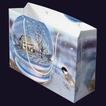 Snowflake Globe Gift Bag