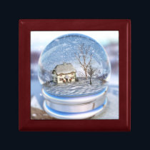 Snowflake Globe Jewelry Box