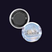 Snowflake Globe Magnet