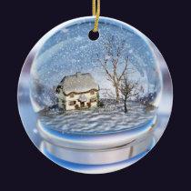 Snowflake Globe Ornament