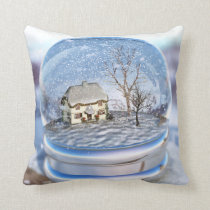 Snowflake Globe Pillow