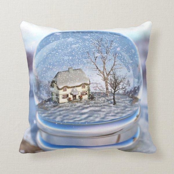 Snowflake Globe Pillow