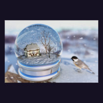 Snowflake Globe Print